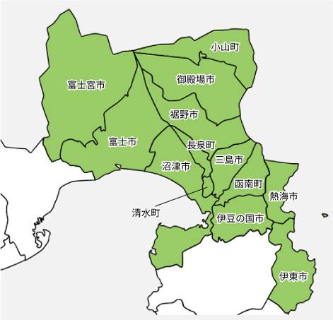 静岡県対応エリアマップ